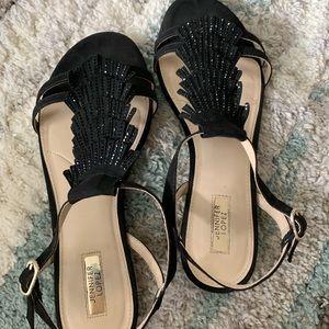 Jennifer Lopez Black Sparkly Sandals size 9